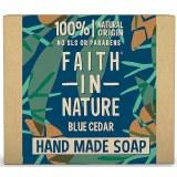Faith in Nature Hand Made Blue Cedar Soap Bar | 100% Natural