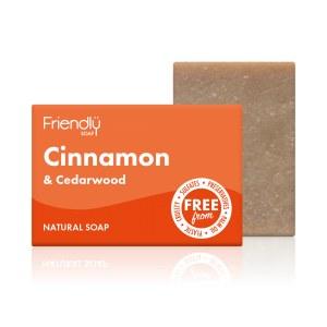 Friendly Soap Cinnamon & Cedarwood Soap Bar - 95g