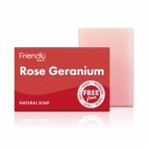 Friendly Soap   Rose Geranium Soap Bar - 95g
