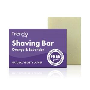Friendly Soap   Orange & Lavender Shaving Soap Bar