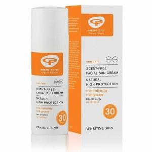 Green People Scent Free Facial Sun Cream SPF 30