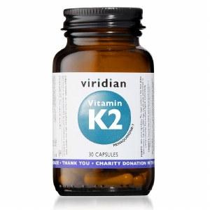 Viridian Vitamin K2 Menaquinone-7 50mg | 30 Capsules