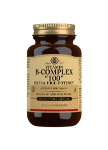 Solgar Extra High Potency Vitamin B-Complex - 100 Capsules