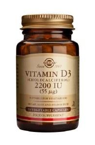 Solgar Vitamin D3 2200IU - 50 Vegetarian Capsules