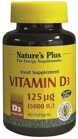 Nature's Plus Vitamin D3 5000iu - 60 Softgels