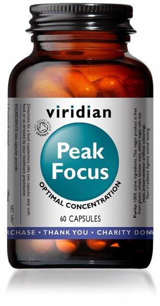 Viridian Peak Focus Capsules - Bottle of 60