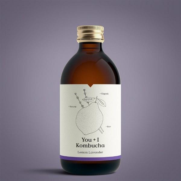 You + I Kombucha 300ml - Lemon & Lavender   Raw & Organic