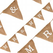 Natural Hessian Bunting MR & MRS (1.8m/6 Flags)