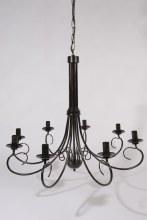 black antique 8 arm chandelier