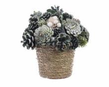 pinecone table decoration
