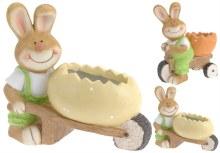 Ceramic Rabbit with Egg Assorted 38cm