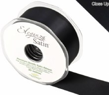 Double Faced Satin 38mm Black