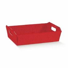Red Tray Linen - Cesto Lino Rosso (40x30x12cm)