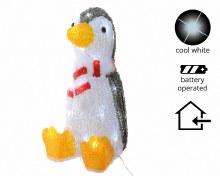 LED acr penguin w scarf ind bo