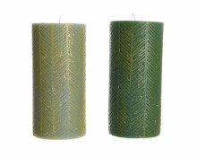 Wax pillar candle leaf (2 assorted)