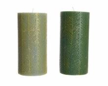 Wax pillar candle leaf (2 assorted)