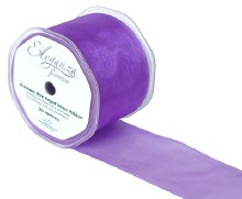 Finesse wired ribbon (70mm x 20m/Purple)