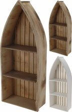 DISPLAY RACK WOOD BOAT SHAPE
