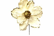 9in Magnolia Pick Ivory/Gold