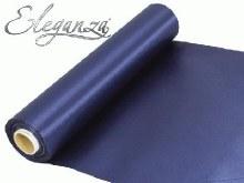 Eleganza satin fabric (29cm x 20m/Navy)