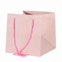 Hand Tied Bag Pink 25x25cm