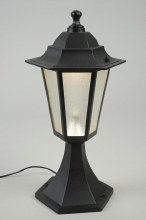 LED 12V black garden lamp out