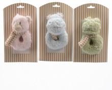 plush rattle towel animal 3ass