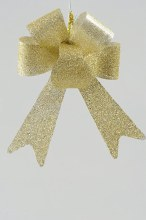 Plastic Bow w.Glitter 45cm