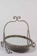 metal deco stand mirror