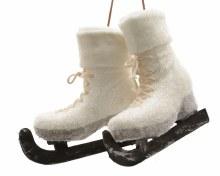 foam pair of skates w hanger