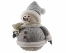 foam snowman w knitted clothes