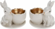 Egg cup with hase (8cm/2 assorted)