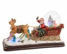 LED Santa on sl snowgl ind bo