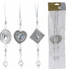 HANGING DECO FIGURES 4AS SILVE