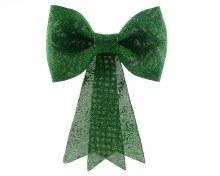 plastic bow w hanger w glitter