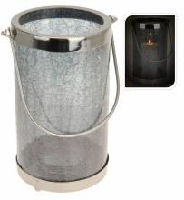 Lantern iron with crackeled
