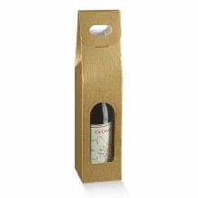 1 Bot. Wine Carrier Silk Gold - Seta Oro