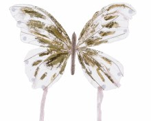 organza butterfly on clip wit