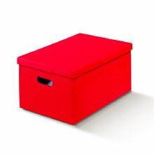 Box with Lid Silk Red - Seta Rosso (40x46x23cm)