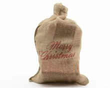 jute gift bag Merry Christmas