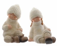 poly magn child w knit hat 2as