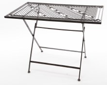 iron table foldable