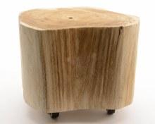 paulownia table with 4 wheels