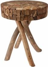 Side Table Teakwood Sliced