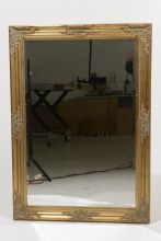 paulownia wood mirror faceted