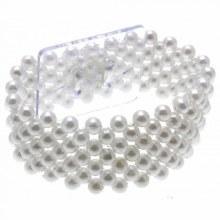 Small Pearl Bracelet White (2.5cm)