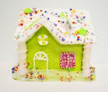 Gingerbread snow house Green
