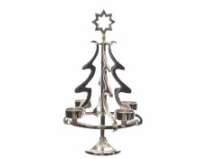 aluminium tree for 4 tealights
