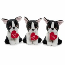 20cm French Bulldog With Heart In Mouth Assorted