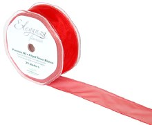 Finesse wired ribbon (32mm x 20m/Red)